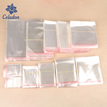 200pcs 4 Size Transparent Clear Self-Adhesive Plastic Storage Bag OPP Poly Pack Bag Retail Packaging Pouch Bag