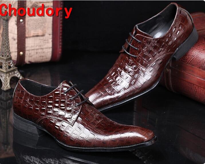 Zobairou итальянская мужская обувь старинные летнее платье элегантный мужчины обувь для выпускного вечера венчания партии квадратный носок крокодиловой кожи кожаная обувь