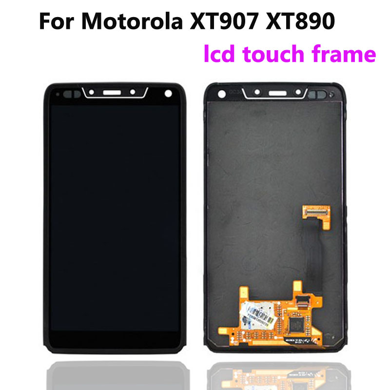 ФОТО 100% Guarantee For Motorola Droid Razr M XT907 XT890 LCD Display + Touch Sreen Glass panel digitizer + frame Assembly