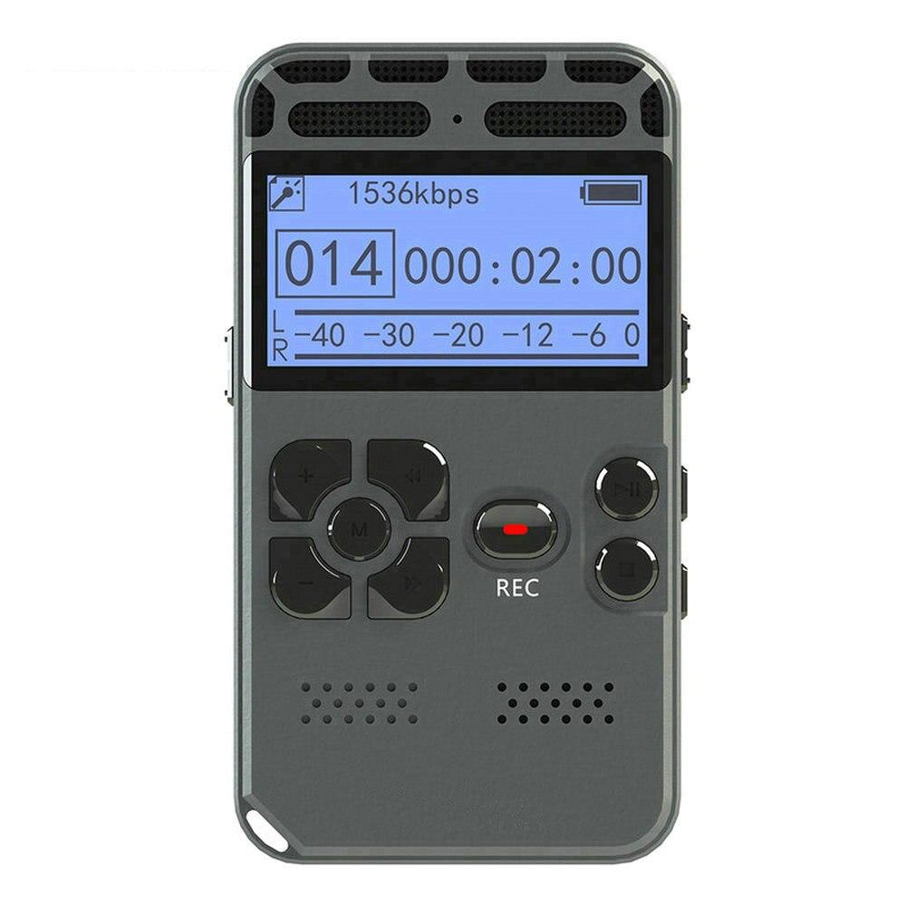 Réduction du bruit enregistreur vocal numérique enregistrement Audio Dictaphone MP3 LED affichage vocal activé 8/16 GB mémoire avec Microphone