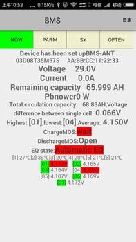 Bluetooth APP Smart display 7S ~ 20S Lifepo4 li-ion Lipo LTO Battery