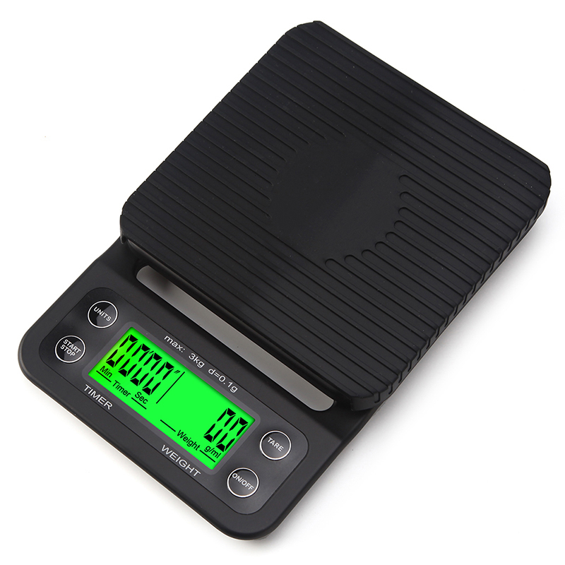 Portable 3kg 0.1g High Precision LCD Electronic Scales Drip Coffee Scale With Timer Electronic Digital Kitchen Scale portable 1 7 lcd digital kitchen timer green white black