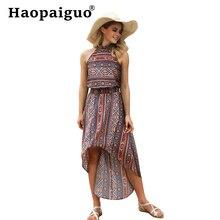 Boho Printed  Sexy Party Dress Women Sleeveless Elegant Vintage 2019 Summer New Fashion Bohemian Plus Size