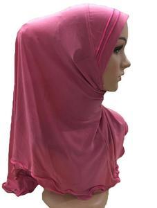 Image 5 - มุสลิมผู้หญิง Amira Frill ผ้าพันคอ Hijab ห่อหัวเต็มรูปแบบหมวกผ้าคลุมไหล่อิสลามอาหรับคอสวดมนต์หมวก Turban headscarf ใหม่