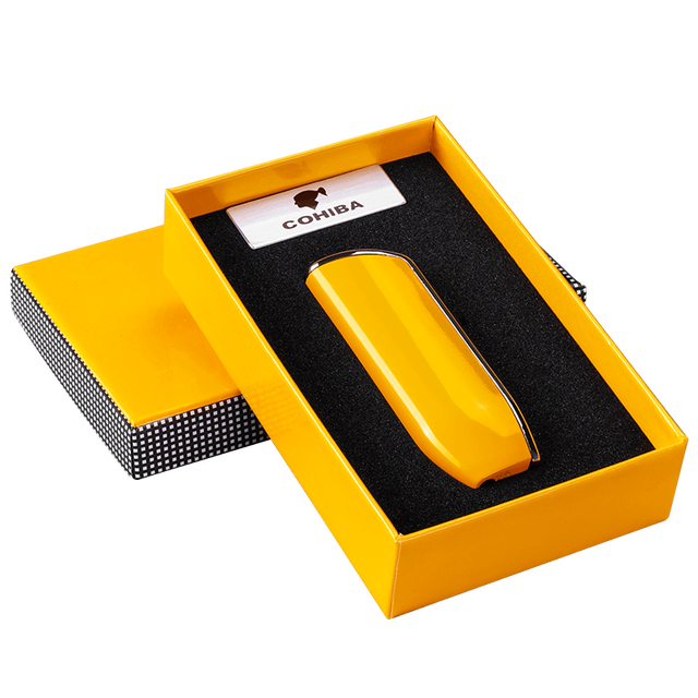 Cohiba Metal Gas Butane 3 Torch Jet Flame Windproof Cigar Lighter