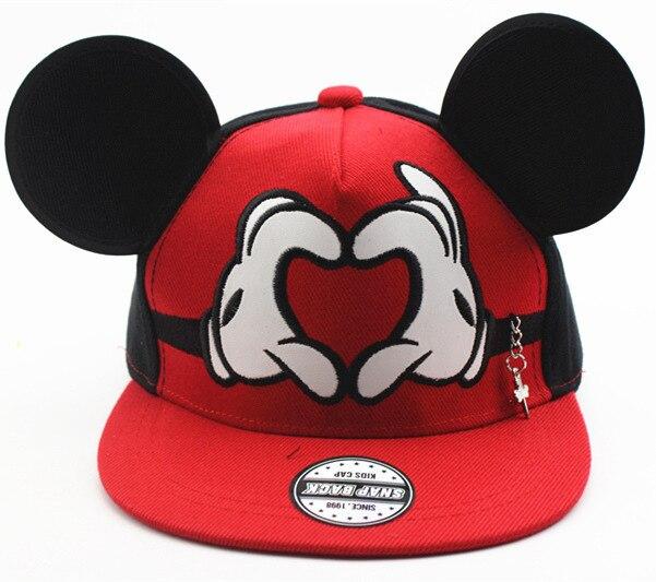 1d1218c960cf1 Cute Mickey Party Supplies Cap Big Ear Mouse Snapback Hats Children Kids  Brand Hip-hop Cap Bone Gorra Chapeau Birthday Supplies