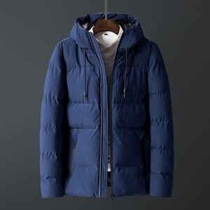 Image 3 - Casacos de inverno Dos Homens Engrossar Homens Quentes Parkas Com Capuz Casaco de Lã do Homem Jaquetas Outwear Jaqueta Masculina Transporte da gota ABZ107