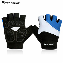 WEST BIKING Half Finger Cycling Gloves Mens Summer Sports Motorcycle Gloves Luvas Guantes Ciclismo Mountain Bikes