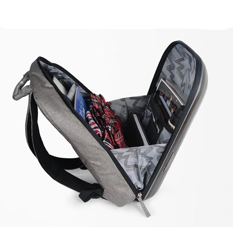 Mode sac à dos avec poignée hommes femme sacs à dos sac à dos pour ordinateur portable coquille dure étanche cartable mode ordinateur intercouche sac - 6