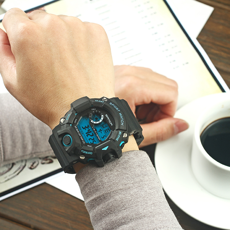 New 2018 Product For Men Digital Sports Watches relogio masculino Alarm Clock LED Display Male Wristwatches Dropshipping Time