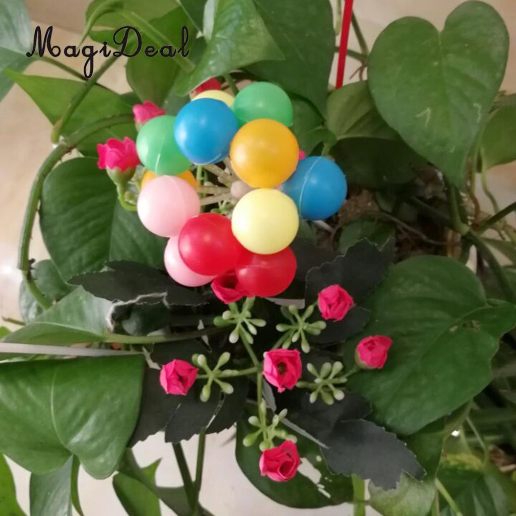 Magideal Cute 12pcs Assorted Mini Balloon Flower Bouquet Diy Craft