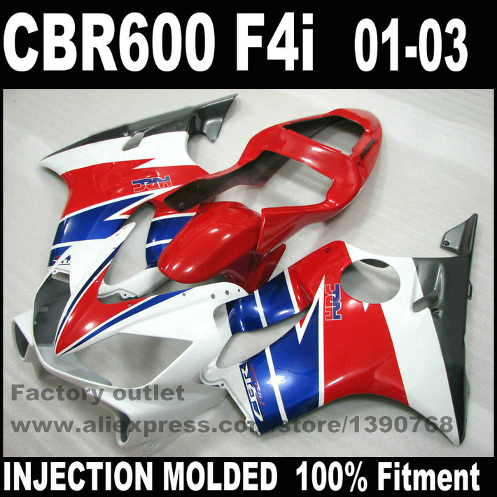 все цены на INJECTION MOLDED bodywork for HONDA CBR 600 F4i fairings 2001 2002 2003 CBR600 01 02 03 red blue black fairing kit NK19 онлайн