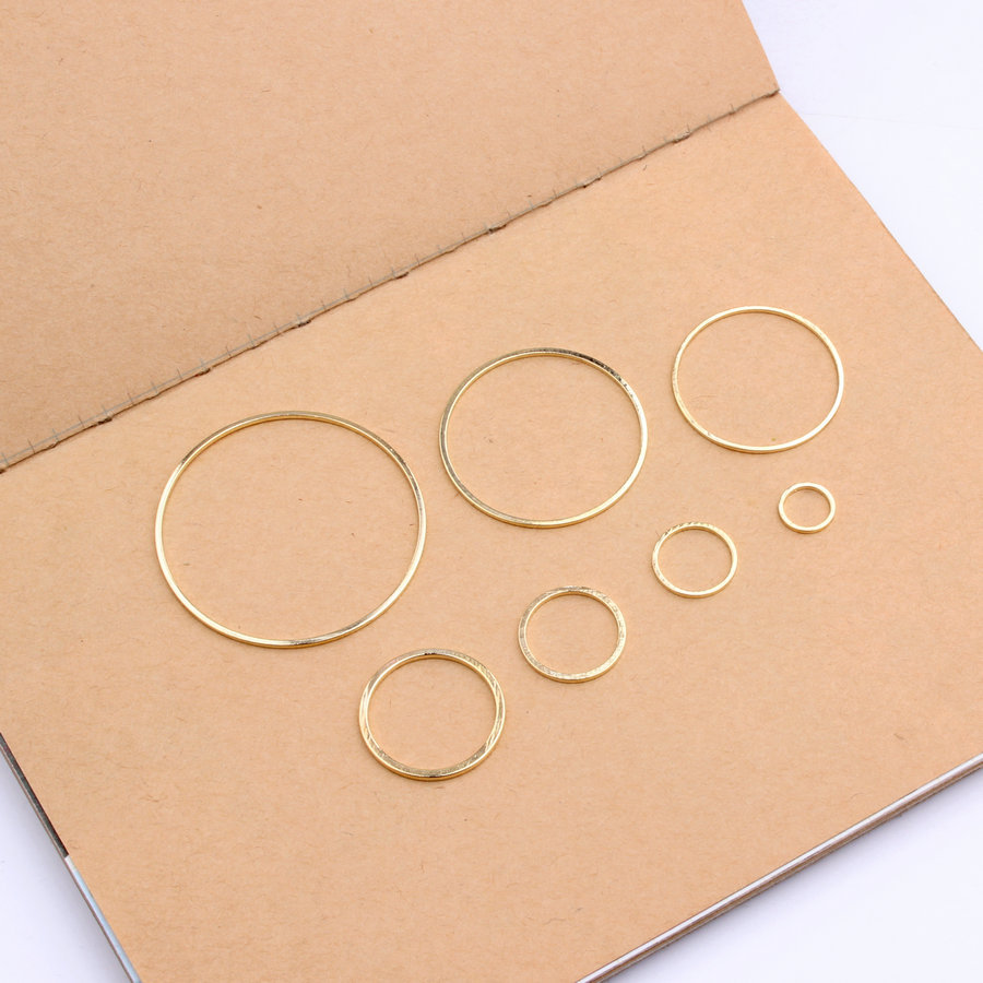 20pcs Gold/White K Rings for DIY Earrings Making Round Circle Earring Pendant Jewelry Accessories Findings 8/12/15/20/25/30/38mm yidensy 100pcs metal big circle wire hoops earrings loop 20 25mm gold silver for diy earring jewelry making findings