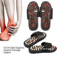 купить Rotatable Foot Massage Slipper Acupuncture Therapy Massager Shoes For Foot Acupoint Activating Reflexology Feet Care Massageador по цене 799.81 рублей
