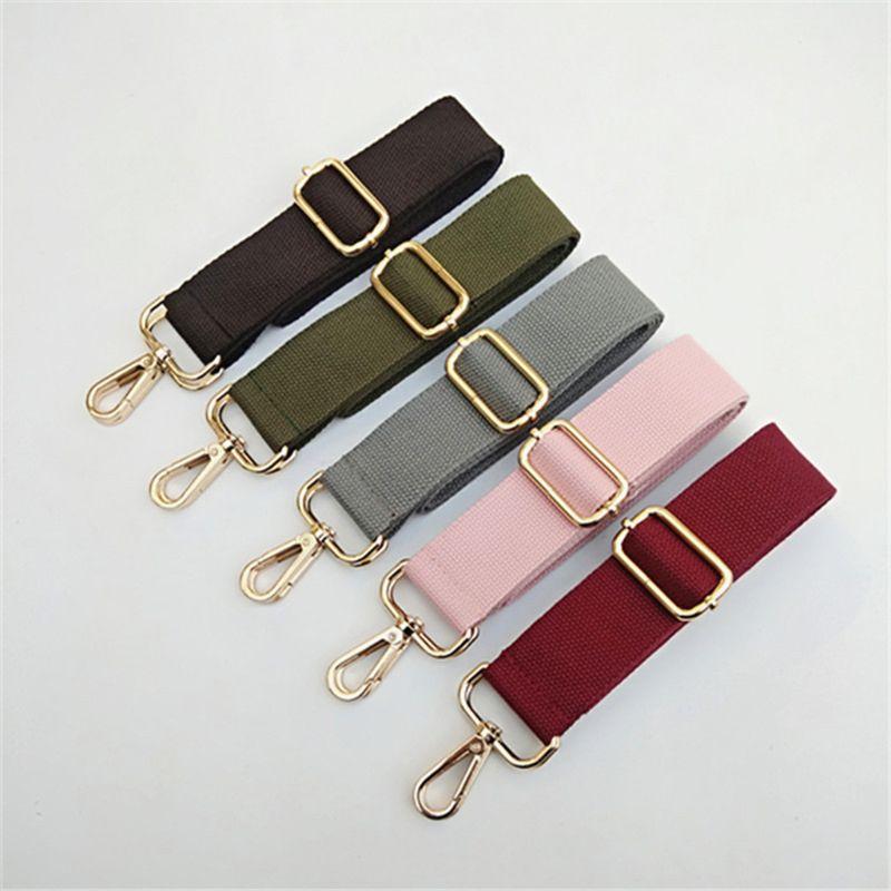 16 Colors Canvas Shoulder Strap Adjustable Replacement Wide Handbag Crossbody Bag Canvas Belt Bag Accessories NoEnName_Null