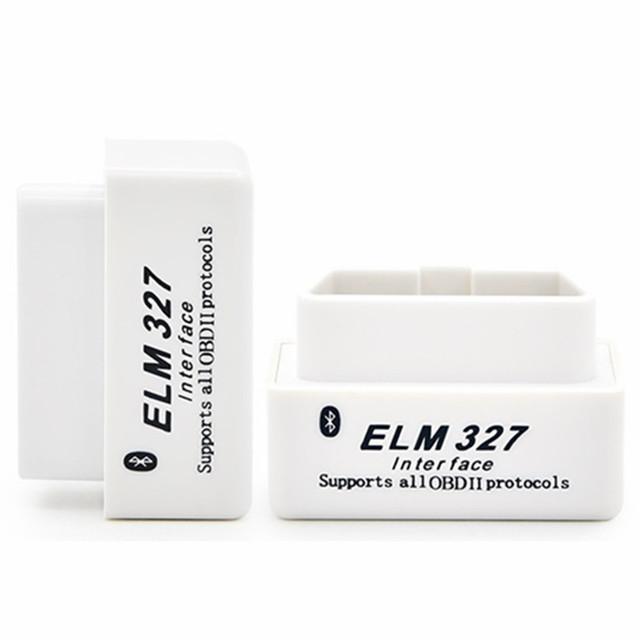 2019 Latest V2.1 White Super Mini ELM327 Bluetooth OBD2 Scanner Smart Auto Code Reader Support All OBD 2 Protocols Android