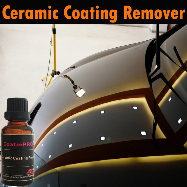 US $44 13 41% OFF Auto Ceramic Coating Remover Nano liquid 9H glass coating  remover remove harden crystal coating from car paint remove coat trace-in