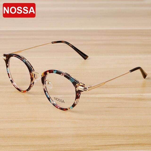NOSSA Vintage Floral Glasses Frame Women Men Retro Eyeglasses Frames ...