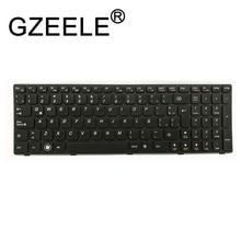 GZEELE Spanish SP keyboard for Lenovo G580 Z580 G580A V580A Z580A G580AH G580AM G580G G585 G585A G585AR B580 G590 with frame