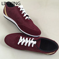 LIN REY Nuevos Mens Zapatos Casuales Forrest Gump Scarpe Masaje Pisos Sapatos Masculino Lona del Bajo-Top Zapatos Casuales de Conducción zapatos