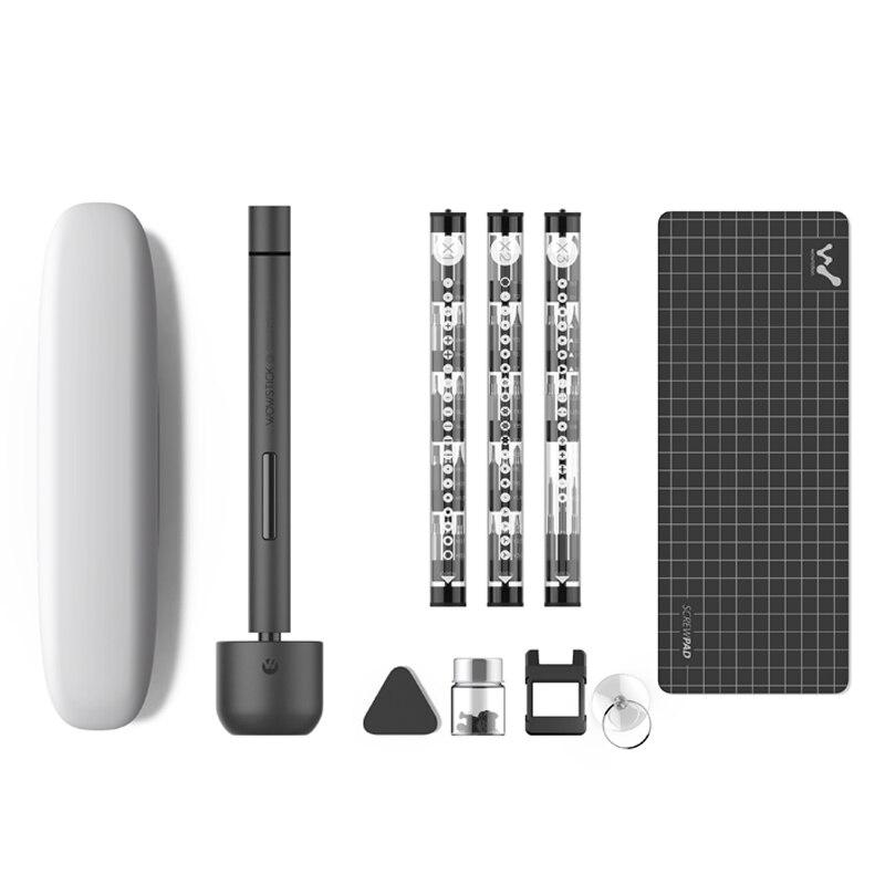 Wowstick 1F Pro Mini tournevis électrique Rechargeable sans fil Kit de tournevis avec batterie au Lithium lumière LED