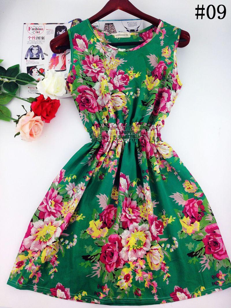 2017 lato jesień nowe koreańskie kobiety dorywczo czeski kamizelka bez rękawów lamparta kwiatów drukowane plaża chiffon dress vestidos wc0344 16