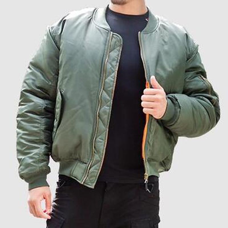2017 New Streetwear Black Men Bomber Jacket Feather Print Pilot Male Embroidey Jacket ...