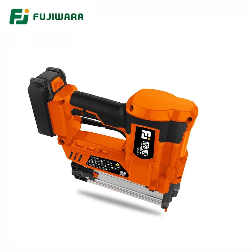 Tools : FUJIWARA Electric Nail Gun Single-use Double-use Nail Stapler 422J Nails F30 Straight Nail Gun Woodworking Tools