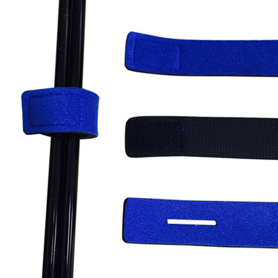 6PCS Fishing Rod Tie Strap Elastic Wrap Pole Holde Belt Tackle Suspender with Foam Rubber,Red
