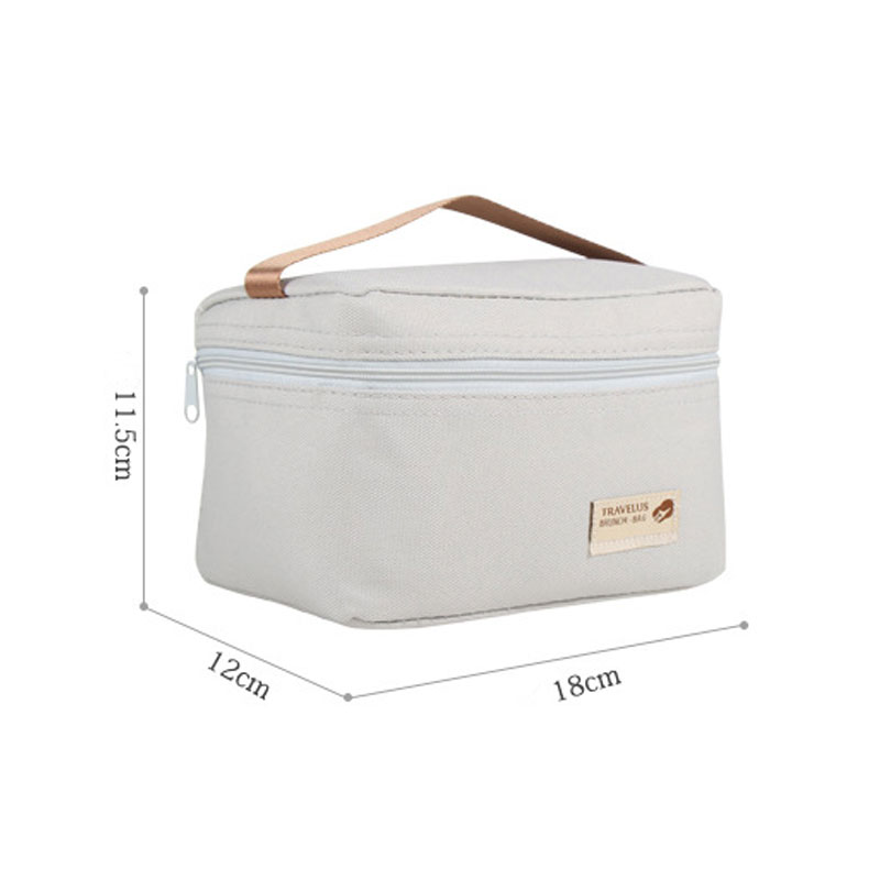 Travel Waterproof Lunch Bag for Women Kids Men Cooler Thermal Lunch Box Bag Tote Polyester Lunch Bag Insulation Package Portable
