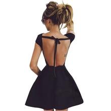 2017 Backless Bandage Party Dress Princess Women Black Sexy elegant Evening Victorian Summer dresses vestido de festa D0391