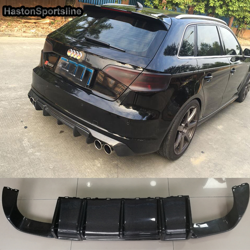 S3 Carbon Fiber <font><b>Rear</b></font> <font><b>Diffuser</b></font> Fit For <font><b>Audi</b></font> S3 RS3 S Line Sportback 2014~<font><b>2016</b></font> image