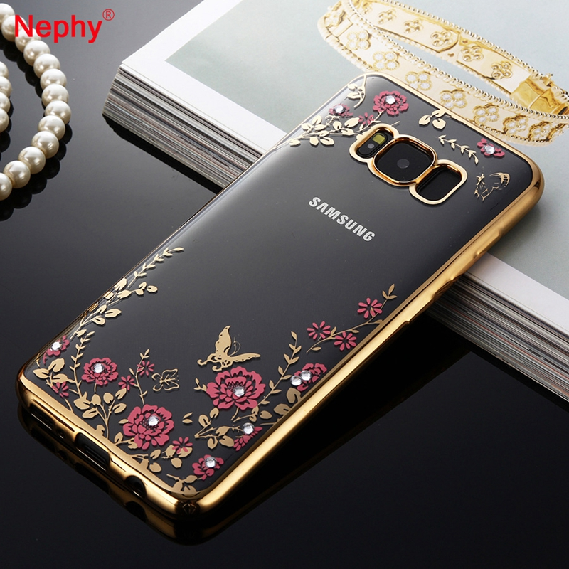 nephy rhinestones case for samsung galaxy s8 plus s6 s7. Black Bedroom Furniture Sets. Home Design Ideas