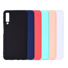 Candy Color Case For Samsung A7 2018 Silicon TPU Soft Cover For Samsung Galaxy A7 2018 GalaxyA7 A 7 2018 SM-A750F A750F A750 цены онлайн