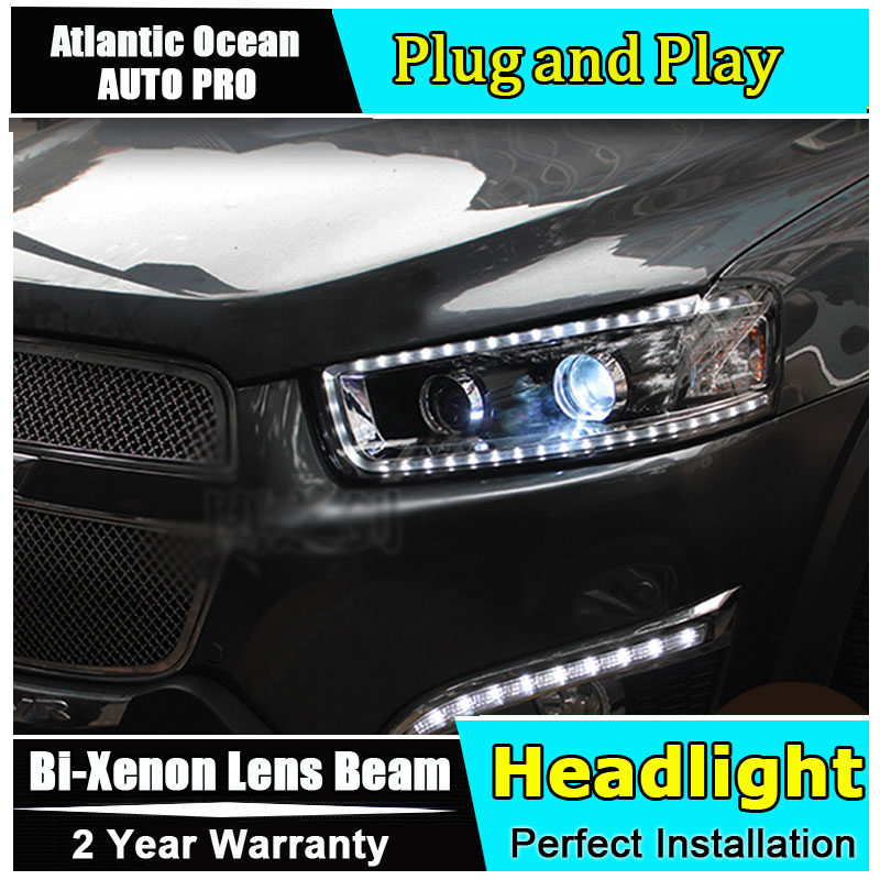 Стайлинга автомобилей светодиодные лампы головного света для Шевроле Каптива фары 2008-2014 Каптива светодиодные фары Сид DRL HID комплект би-ксенон ближний линзы пля