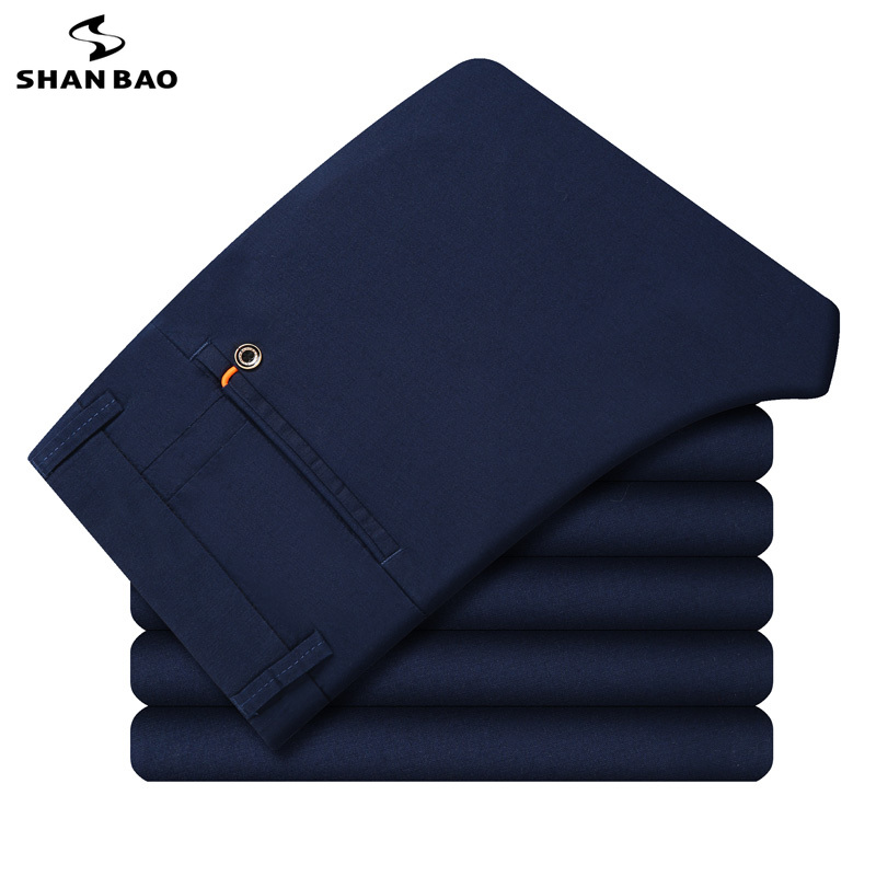 SHANBAO Brand High Quality Cotton Comfortable Thin Business Casual Pants 2019 Spring And Summer Fashion Slim Trousers Big Size
