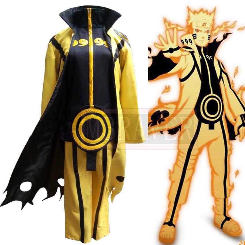 Naruto Uzumaki Naruto Nine Tail Cosplay Costume Custom-Made Free Shipping