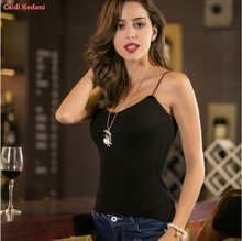 2019 NEW HOT Women Letter Strap Tank Tops Female Slip Crop Sexy Camis Club Camisoles Black Ladies Short Tight T Shirt