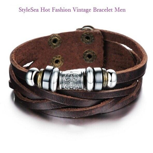 0661b623206e Ser rastreado moda cuero pulsera hombres Pulseras y brazaletes pulseras  para hombre Boy male braclet pulseira