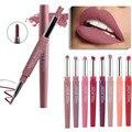 20 farbe matte lippenstift lip liner 2 in 1 marke make-up lippenstift matt durable wasserdicht nude rot lippenstift lippen machen up