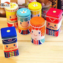 1pcs Cute happy kingdom Tea caddy gift packaging box candy storage box for party wedding favor tin box cable organizer container(China)