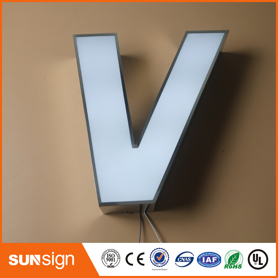 Outdoor Led Frontlit Letter Channel Sign