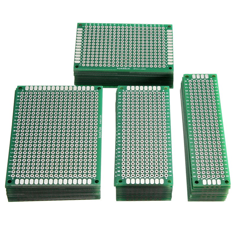 цена на 40pcs Double Sided Universal PCB Board Prototype Circuit Tinned Breadboard PCB Board Set