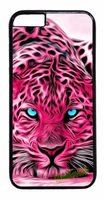 Animal Print Leopard Pink Tiger Art Fashion Phone Case Cover For Iphone 4 4S 5 5S