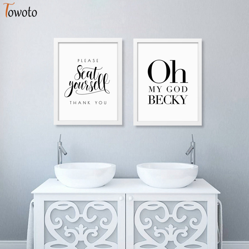 Funny Sign Posters Nursery Quotes Prints Minimalist Canvas Painting Modern Wall Art Decoration Pictures Bathroom Wall Decor Painting Calligraphy Aliexpress