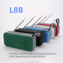 L8B portable subwoofer speaker outdoor sports Bluetooth speaker support USB TF card FM radio AUX input qcy value package qq800 mini portable bluetooth speaker support tf card usb aux and qy11 sports wireless earphones headphones%2