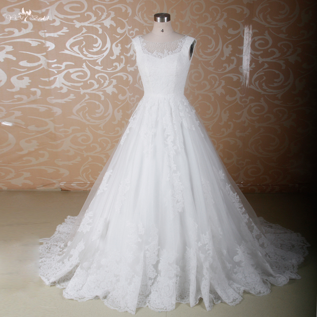 RSW850 Illusion lace top medieval bling wedding dresses ball gown-in ... 9ae038a5225e