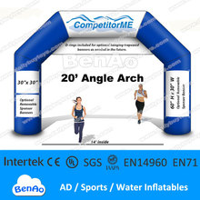 AR28   20′ Angle inflatable Archway / Running sports /Event Entrance / Finish Line / Triathlon Arch   Free Logo Print / Banner