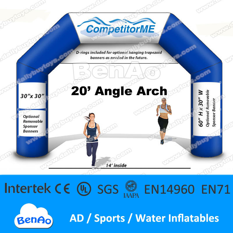 Подробнее о AR28   20' Angle inflatable Archway / Running sports /Event Entrance / Finish Line / Triathlon Arch   Free Logo Print / Banner r067 free shipping 25ft inflatable arch event entrance finish line for sports events advertising