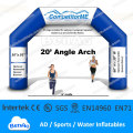 AR28   20' Angle inflatable Archway / Running sports /Event Entrance / Finish Line / Triathlon Arch   Free Logo Print / Banner
